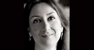 Daphne Caruana Galizia, an investigative journalist who was killed in a car bomb near her home in Malta on October 16th. Photograph:  The Malta Independent via AP