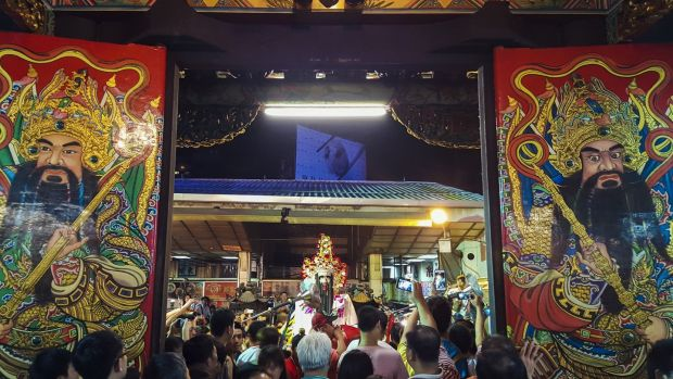 The Gates to the Underworld open in the Chungyuan festival during Ghost Month. Photograph: Asian Ghost Month