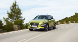 Hyundai's new Kona small SUV starts with a price of €20,995 for a Comfort model, using the 1.0-litre T-GDI petrol turbo engine