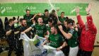 Cork City celebrate a draw with Derry City which secured them the league title. Photograph: Stephen McCarthy/Sportsfile