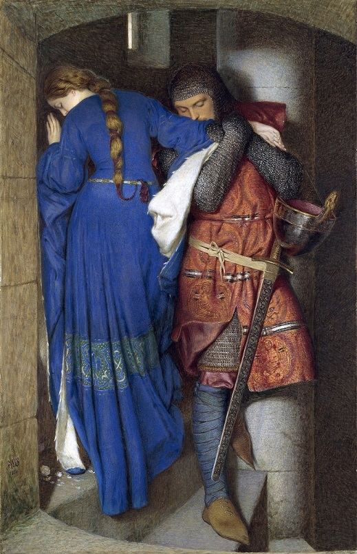For the Love of Art: Hellelil and Hildebrand, The Meeting on the Turret Stairs, by Frederic William Burton. Photograph © National Gallery of Ireland