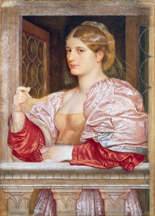 For the Love of Art: A Venetian Courtesan, by Frederic William Burton. Photograph © National Gallery of Ireland