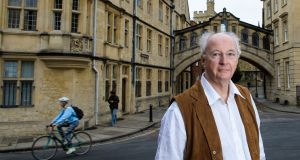 Author Philip Pullman after the launch of  'La Belle Sauvage',  at Bodleian Libraries, University of Oxford, UK