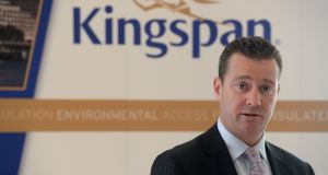 Kingspan chief executive Gene Murtagh: he said he was proud  the group had reached the standard set by the CDP.   Photograph: Cyril Byrne