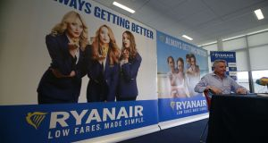 Ryanair CEO Michael O'Leary at a recent press conference.  Photograph: Nick Bradshaw