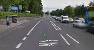 Crash occurred on  Drumcondra Road Upper between the junctions of Griffith Avenue and Homefarm Road. Source: Google Street View