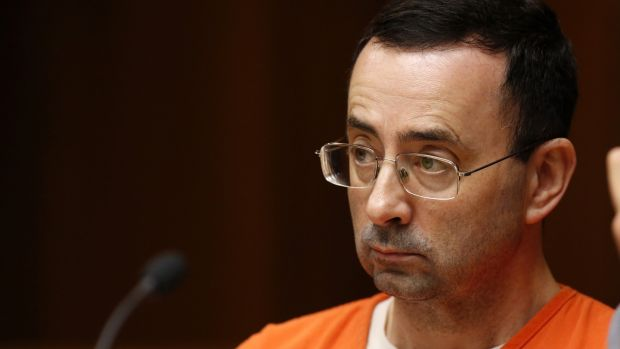 US team doctor Larry Nassar during his trial in Michigan last June. Photo: Jeff Kowalsky/Getty Images