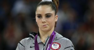 "McKayla Maroney pulls ""that face"" after receiving her silver medal at the 2012 London Olympic Games. Photo: Thomas Coex/Getty Images"