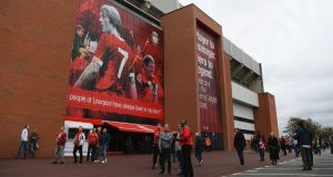 A general view of the newly named Kenny Dalglish Stand at Anfield. Type 'gobshites' into Google Maps and you'll be directed right to it. Photo: Shaun Botterill/Getty Images