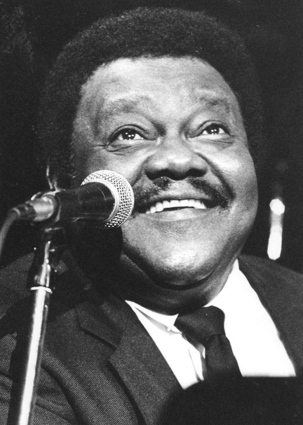 Fats Domino in concert at the National Stadium, Dublin, in 1991. Photograph: The Irish Times Archive