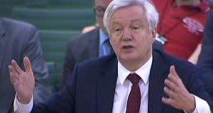 Britain's Brexit secretary David Davis said on Wednesday that parliament may not get to vote on a final Brexit deal until after Britain leaves the EU. Photograph: AFP