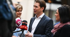 Sebastian Kurz, the 31-year-old leader of the Austrian People's Party, is likely to be the next chancellor. Photograph: EPA/Christian Bruna
