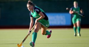 Gillian Pinder: scored Ireland's goal in the defeat to Scotland at Stormont. Photograph: Ryan Byrne/Inpho