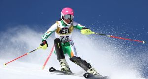 Tess Arbez competes in the Women's Slalom during the FIS Alpine World Ski Championships in Switzerland. She one of Ireland's two Winter Olympics hopefuls. Photograph: Julian Finney/Getty Images