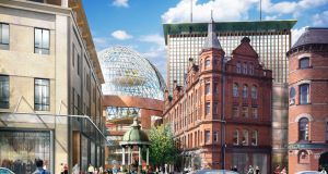 An artist's impression of the Victoria Square regeneration initiative in Belfast, which is near the proposed North East Quarter.