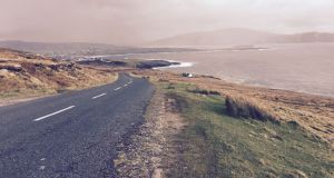 Achill Island: . Visit the disappearing beach of Dooagh on your wayv to Keem Breach