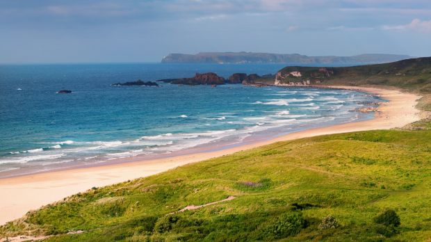 White Park Bay, Co Antrim. 'You have to walk to get to the beach and when you get there it is breathtaking, bordering on the religious,' according to Prof Geoffrey Beattie