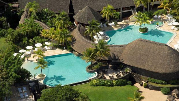 A pool view of the Maritim Hotel, Mauritius, €940 off holidays in November