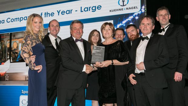 David Anchell, MD, Camida presents the Pharma Company of the Year - Large award to the Amgen Technology Ireland team