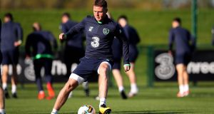 James McCarthy looks set to be fit for Ireland's World Cup playoff with Denmark after returning to first team action with Everton on Wednesday night. Photo: Ryan Byrne/Inpho