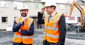 Minister for Housing Eoghan Murphy (left) with   Taoiseach Leo Varadkar on Thursday morning. Photograph:  Orla Murray/SON