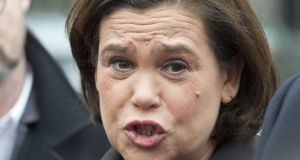 "Sinn Féin deputy leader Mary Lou McDonald said a ""recent high profile case has brought the Judiciary into disrepute"". Photograph: Dave Meehan/The Irish Times"