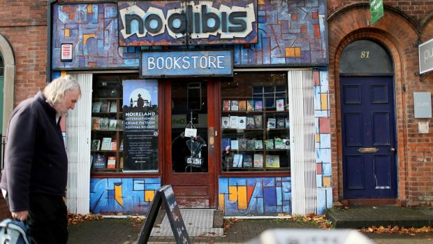 No Alibis in Belfast is the North's only crime fiction bookstore. Photograph: Stephen Davison