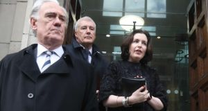 Bank of Ireland chief executive Francesca McDonagh leaves the Department of Finance after being called to it over tracker mortgage issues. Photograph: Leah Farrell/RollingNews.ie