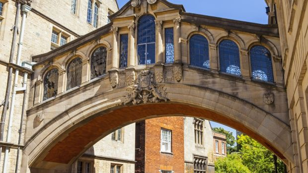 Oxford's Bridge of Sighs is one of the best places to get a sense of Oxford's place in history, says Denise Power. Photograph: Getty Images