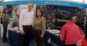 Fisheries Minister Sean Kyne with Suzanne Campion of Inland Fisheries Ireland