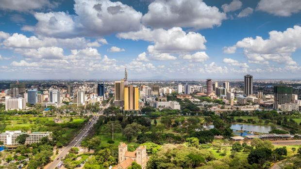 The Nairobi city skyline. Photograph: Getty Images