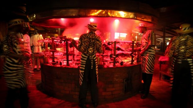 A grilled meat restaurant in Nairobi. Photograph: Getty Images