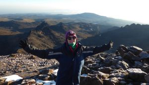Maggie Coughlan climbing Mount Kenya. The Bantry, Co Cork, native has been living in  Kenya since 2016