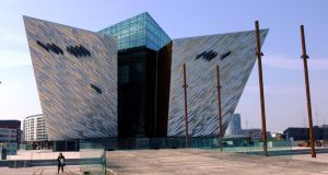 The Titanic Belfast visitor attraction. The latest available data for the North, for 2012, shows investment there reached only 10 per cent of GDP, well below Scotland's ratio. Photograph: Bryan O'Brien