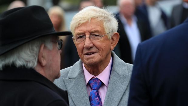 Entertainer Sil Fox at the funeral of Eamonn Campbell. Photograph: Colin Keegan/Collins Dublin