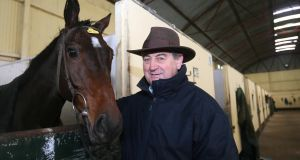 Trainer Noel Meade pictured with Monkland in December 2012. Photograph: Lorraine O'Sullivan/Inpho