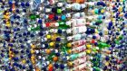 Stacks of empty plastic bottles, which can be employed for inventive, useful structures such as greenhouses. File photograph: Getty Images