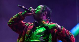 In Dublin: Joey Bada$$. Photograph: Frazer Harrison/Getty
