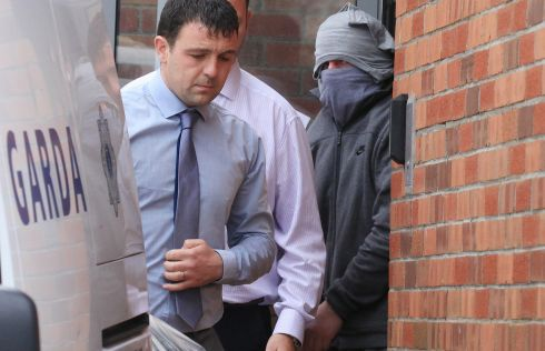 CITYWEST CHASE: Joseph Rafferty (37) (right) of Russell Place, Russell Square in Tallaght, is charged with three counts of possession of a sub-machine gun and seven rounds of 9mm ammunition among other offences. Photograph: Collins Courts