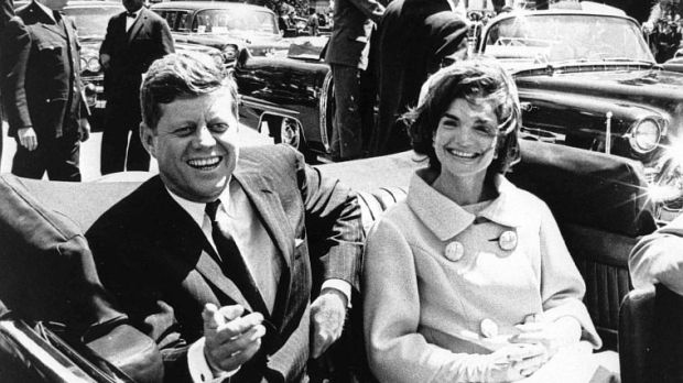 US President John F Kennedy and First Lady Jacqueline Kennedy in May 1961. File photograph: EPA/Abbie Rowe/National Park Service