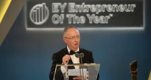 As the overall winner, Harry Hughes will now go on to represent Ireland at the World Entrepreneur of the Year Awards in Monte Carlo next June. Photograph: Alan Betson / The Irish Times