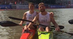 Ireland canoeists Jenny Egan and Barry Watkins in China.