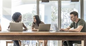 Companies view shared office space as a place to network, share ideas and benefit from an extended eco-system of like-minded companies and individuals. Photograph: iStock
