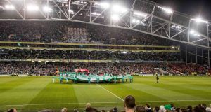 Tickets for Ireland's World Cup playoff second leg encounter with Denmark are selling for up to €550 on secondary ticket websites. Photo: Inpho