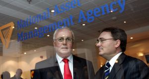 Brendan McDonagh (R), chief executive of Nama and Frank Daly, chairman. Photograph: Matt Kavanagh
