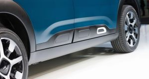 The new Citroën C4 Cactus: the side air-bumps are more subtle than before