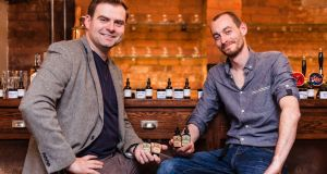 Jarrod Cuffe (left) and Barry Gargan, co-founders of Off the Cuffe bitters