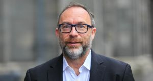 "Jimmy Wales at TCD: ""We need to pay journalists to continue to do something that often isn't much fun because it is from local reporting that big stories often emerge."" Photograph: Gareth Chaney/Collins"
