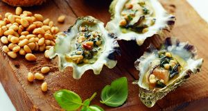 Oysters baked in savoury butter. Photograph: Walter Pfeiffer