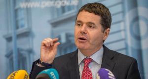 Minister for Finance Paschal Donohoe threatened to become an activist shareholder in the three banks in which the State has shares. Photograph: Brenda Fitzsimons